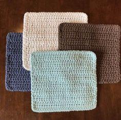 Simple Crochet Dishcloth Pattern | Etsy Dishcloth Knitting Patterns, Crochet Dishcloths, Easy Crochet Patterns, Crochet Stitches, Crochet Ideas, Cloth Patterns, Crochet Placemats, Crochet Afghans, Crochet Blankets
