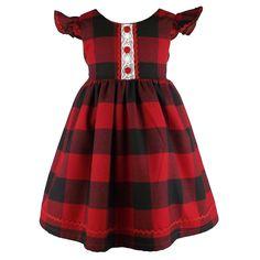 Metallimonsters Red Check Dress Alternative Goth Rock Punk Metal Tartan Baby
