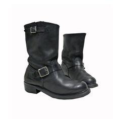 boots WALKER vintage black leather buckles di vintageinfashion