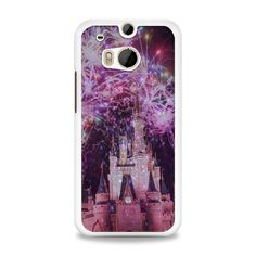 Disney Castle Fireworks Design On Nebula HTC One M8 Case | yukitacase.com