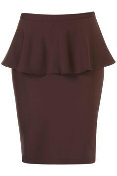 Maroon Peplum Skirt