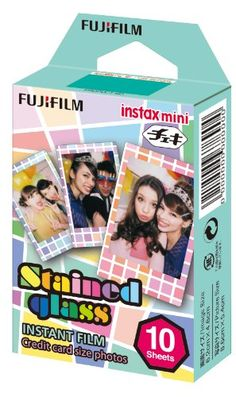 Fujifilm Instax mini film with Stained glass design frame. - Includes for Instax Mini & 8 & 90 & & 25 - x credit card sized images in ISO - Instax film ensures sharp, clear reproduction, vivid color and natural skin tones. Instax Mini 8, Fujifilm Instax Mini 7s, Instax Mini Camera, Poloroid Camera, Instax Film, Instant Film Camera, Ebay, Stained Glass, Glass Film