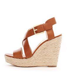 MICHAEL Michael Kors  Giovanna Leather Espadrille Wedge Sandal