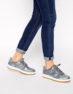 Image 1 of Nike Air Force 1 Airness Grey Trainers