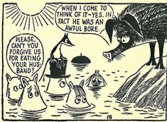 Moomin by Tove Jansson Tove Jansson, Moomin Cartoon, Moomin Valley, Little My, Hilarious, Funny, Children's Book Illustration, Stop Motion, Comic Character