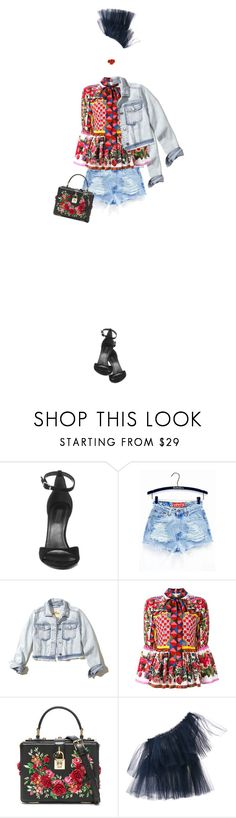 """IT!"" by maria-laura-correa-da-silva ❤ liked on Polyvore featuring Alexander Wang, Hollister Co., Dolce&Gabbana and Molly Goddard"