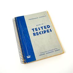 Friendship League's Book of Tested Recipes by the Swedish Tabernacle Church 1940 Pb / HTF Vintage Cookbook, 1940s Kitchen by AttysVintage on Etsy