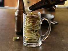 Beer and Bacon Mancakes. It's a breakfast in a mug.