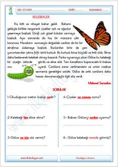 1. SINIF OKUMA METNİ 5N1K | İlkokulluyum Childrens Crafts Preschool, Turkish Lessons, Learn Turkish Language, French Language Lessons, Erdem, Math, Learning, Kids, Noodle