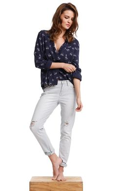 The zebra print on this relaxed fit shirt will bring a playful twist to your office style. Buttons...
