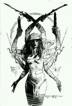 Elektra commission by Bill Sienkiewicz