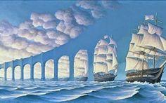 Rob Gonsalves e le tele surreali, tra Dalì e Magritte #robgonsalves #artecontemporanea #dalì