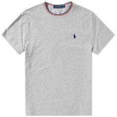 Polo Ralph Lauren Tricolor Tipped Pique Tee (Grey)