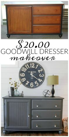 Ideas bedroom furniture makeover diy before after for 2019 Redo Furniture, Repurposed Furniture, Home Furniture, Furniture Rehab, Bedroom Furniture Makeover, Furniture Makeover Diy, Home Decor, Distressed Furniture, Shabby Chic Furniture