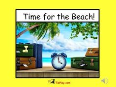 Time for the Beach is an adventure of hourly ocean activities!  This zip file includes 44 ppt slides, a clock manipulative print-out, an optional  teachers script and two musical midi cues.  Learners gain exposure to beach, ocean events and time while viewing beautiful, ocean environments.Imagery supplied by Thinkstock.comCCSS Math Content 1.