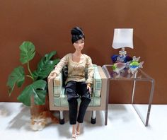 Clear Acrylic SIDE Table - 1:6 Scale FR, Barbie, Poppy Parker Doll Displays #Handmade