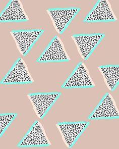 Patterned Triangles- Bouffants & Broken Hearts
