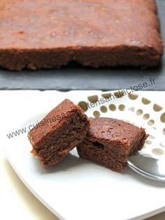 moelleux au chocolat et poire