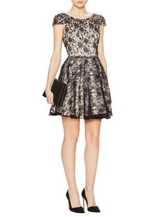 Aubree Embellished Lace Cap Sleeve Dress
