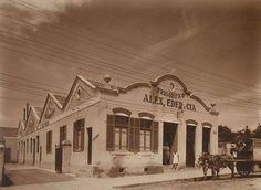 avenida Adolfo Pinheiro com a rua Isabel Schmidt, bairro de Santo Amaro. Uma linda foto do antigo Frigor Eder em 1928.