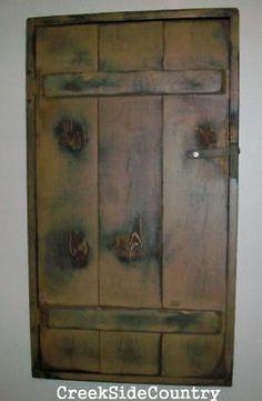 PRIMITIVE Wood Circuit Breaker Fuse Box Cover Cabinet