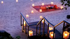Samui, Thailand. I'm 99% sure that after dinner, the picnic blanket takes you on a magic carpet ride.