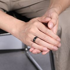 This black ring designed for men is made up of titanium. Its cross and beveled design is flexible, thus bringing you a more comfortable feeling of wearing. We believe it can be a nice gift for most occasions such as birthday, anniversary and party. Tungsten Rings, Titanium Rings, Mens Ring Designs, Cheap Gifts, Black Rings, Custom Engraving, Fashion Rings, Really Cool Stuff, Wedding Bands