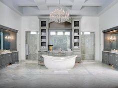 Top 60 Best Master Bathroom Ideas - Home Interior Designs Master Bathroom Shower, Luxury Master Bathrooms, Bathroom Layout, Dream Bathrooms, Beautiful Bathrooms, Bathroom Ideas, Bathroom Marble, Luxurious Bathrooms, Silver Bathroom