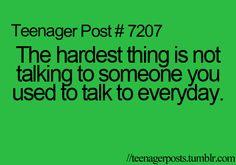 The hardest part of a broken friendship. It doesn't matter if its bestfriends or boyfriend/girlfriend or even just friends. Its still the hardest part