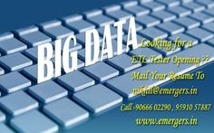 Looking for a  ETL Tester opening?? mail your Resume To nikhil@emergers.in call-9066602290 9591057887 www.emergers.in