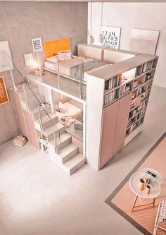 Room Design Bedroom, Girl Bedroom Designs, Room Ideas Bedroom, Bedroom Loft, Bedroom Decor, Bed Room, Wall Decor, Bedroom Wardrobe, Bedroom Storage