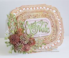 Designs by Marisa: Just a Note Card - Craft Dies by Sue Wilson May 27th 2015