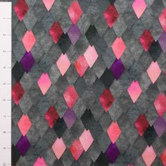 Pre-Order Rose Gray Dragons Scales Cotton/Lycra by Made Whimsy