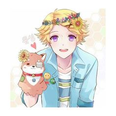 """I'm like a cute puppy?! Ha.."" /// flowercrowns and sunshine~s"