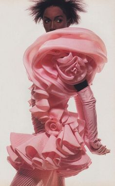 Katoucha Niane in Emanuel Ungaro. Photo: Irving Penn, 1988