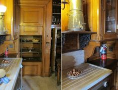 Straatsburgh Mills Mansion, Straatsburgh NY. Designed in 1895 by McKim, Mead and White. Service or butler's pantry and dumbwaiter.