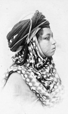 Africa | A young Biskra woman.  Algeria.  ca. 1870s | ©unknown