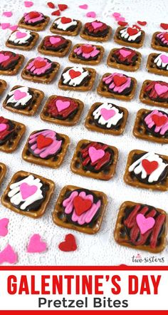 Sweet Hearts Pretzel Bites are the perfect sweet, salty and crunchy Valentines's Day treat for your family - easy and delicious. Pink Party Favors, Chocolate Candy Melts, Pink Desserts, Ghirardelli Chocolate, Pink Foods, Valentines Day Treats, Pink Candy, Sweet And Salty