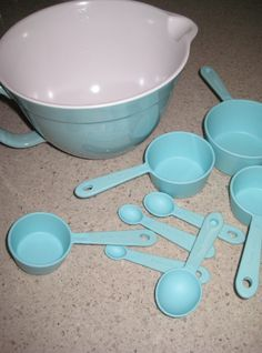 Beautiful Kitchen Decor Ideas For A Tiffany Blue Colored Kitchen. Updated  With New Decorating Ideas, Tiffany Blue Appliances, Kitchen Gadgets, ...