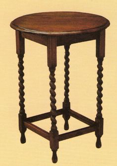 Mission Oak End Table / Side table / Lamp Table with Barley Twist Legs. Cute 28 x 20.5 x 20.5