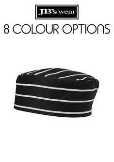Chef's Cap with elastic strap on back. Available in assorted colours - one size fits most. Hospitality, Cap, How To Wear, Accessories, Color, Fashion, Baseball Hat, Moda, Fashion Styles