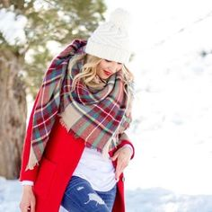 One of our favorite Holiday accessories is a gorgeous plaid scarf. We have several plaids to choose from and they are perfectly priced for giving to all your girls. #perfectgift #shoplocal #shopsmall #plaidscarves