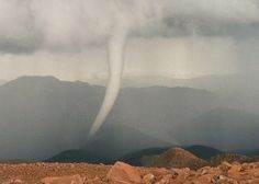 When visiting an elevation of 14,114 feet you can expect to see a wide variety of weather conditions. However funnel clouds are not a phenomena normally associated with the rarified air at the top of Pikes Peak yet visitors were able to spot one Saturday.