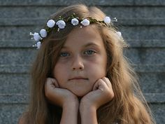 Flower head wreath / Floral crown /  Headpiece  van Lola White op DaWanda.com