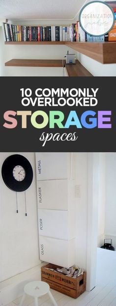 10 commonly overlooked storage spaces