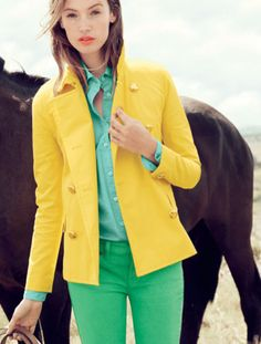 Love this bright color combo!
