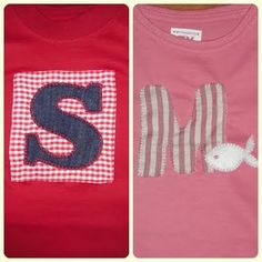 T-shirts with monograms (letters S and M)
