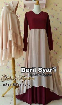Gaun Pesta Muslimah Beril Syar'i DRess (Ready Stock Dan Pre Order) Designer Party Wear Dresses, I Dress, Muslim, Women's Fashion, Formal Dresses, How To Wear, Dresses For Formal, Fashion Women