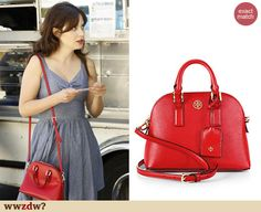 Zooey Deschanel's red bag on New Girl. Outfit Details: http://wwzdw.com/z/4671