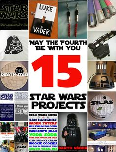 Disney Craft projects: 15 Star Wars Projects - Mad in Crafts